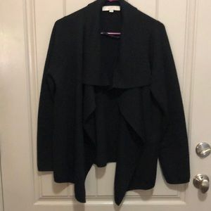 Beautiful Black Loft Waterfall Front Cardigan (M)